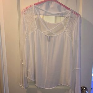 Forever 21 white Lacey blouse with open back